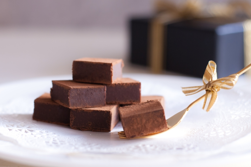 美味しそうな生チョコ