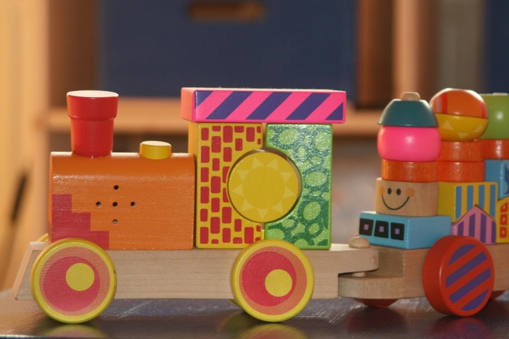 積み木の汽車